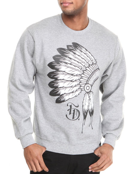 Filthy Dripped - Men Grey Filthy Warrior Crew Sweatshirt