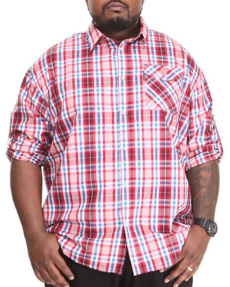 Ecko Red Plaid L/S Button-Down (Big & Tall)