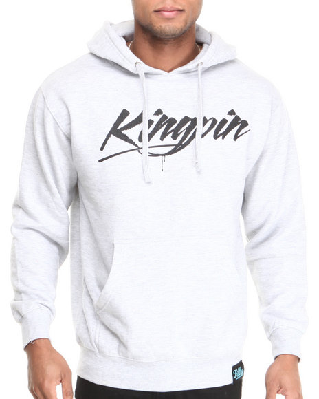 Filthy Dripped - Men Grey Kingpin Hoodie