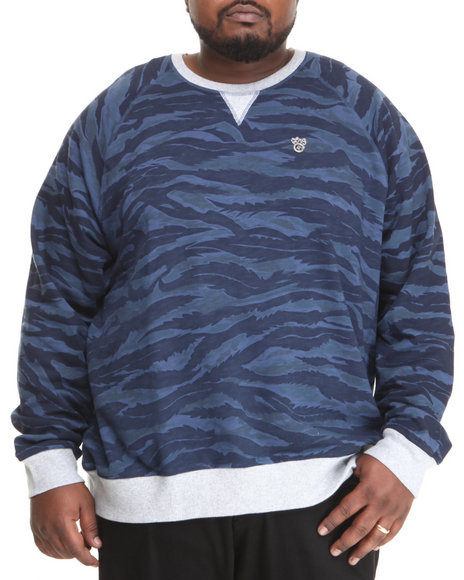 Lrg - Men Navy Core Collection Crewneck Sweatshirt (B&T) - $40.99
