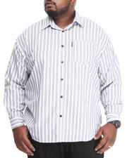 Ecko - Stripe L/S Roll-Up Button-Down (B&T)
