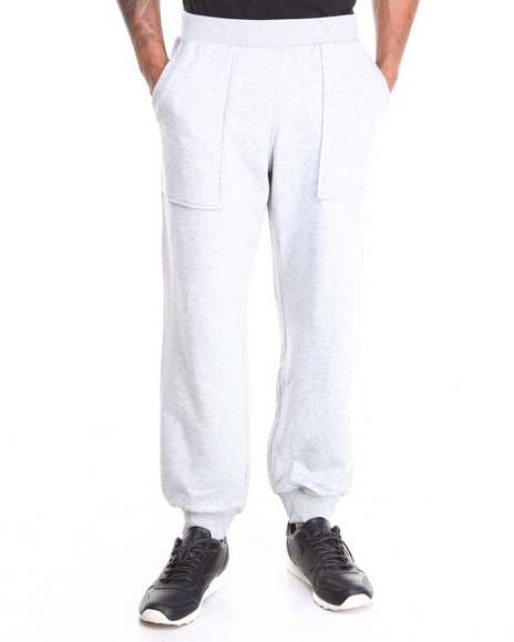 Adidas Grey Fabric Mix Sweatpants