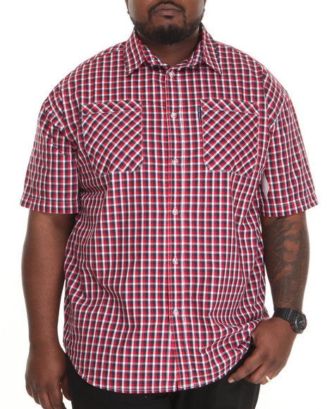 Ecko Red Plaid S/S Button-Down (Big & Tall)