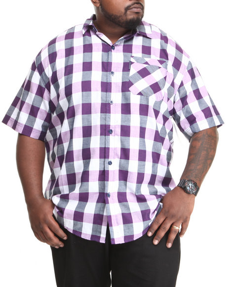 Ecko - Twill Plaid S/S Button-Down (B&T)