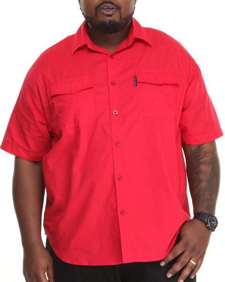 Ecko - Men Red Solid S/S Button-Down (B&T)