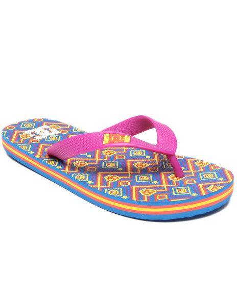 Dc Shoes - Girls Purple Spray Graffik Sandals (1-7) - $10.99