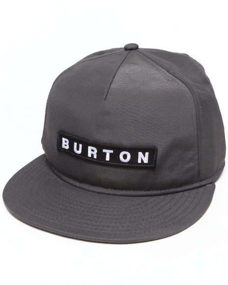 Burton Vault Snapback Cap Grey