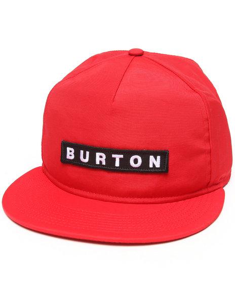Burton Vault Snapback Cap Red
