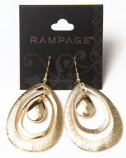Women - Tri Oval Textured Earrings