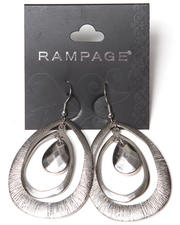 Rampage - Tri Oval Textured Earrings