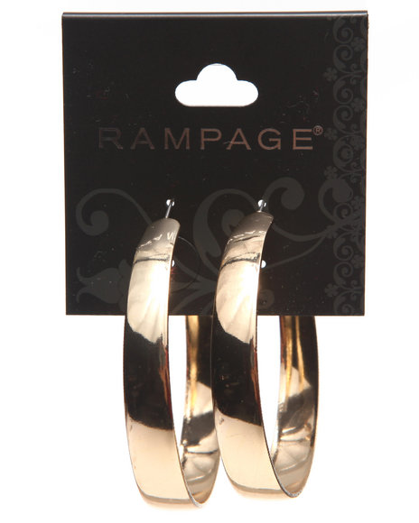 Rampage Women All Around Hoop Earrings Gold - $4.99
