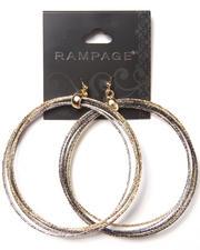 Women - Large Bangle Hoops Earrings