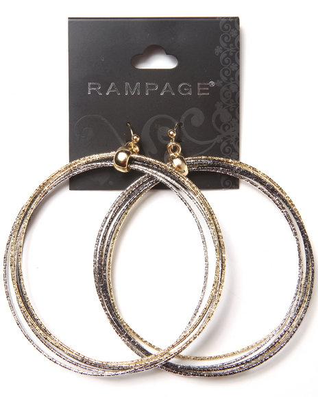 Rampage Large Bangle Hoops Earrings Multi