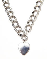 Necklaces - Chain Heart Trim Necklace