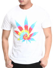 Men - Tye Dye Weed Dead Head Tee