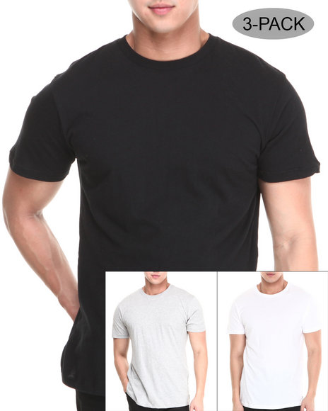 Burton - Men Black,White,Grey 3-Pack Slim Fit Tees