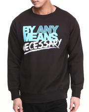 Basic Essentials - By Any Means Necessary Crewneck Sweatshirt