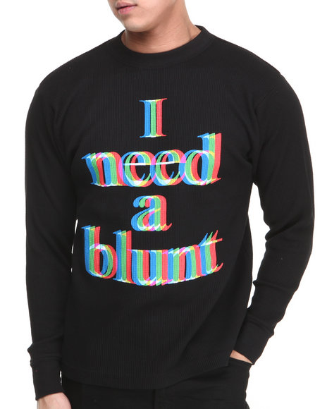 Buyers Picks - Men Black I Need A Blunt Thermal