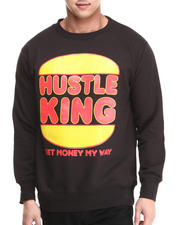 Men - Hustle King Crewneck