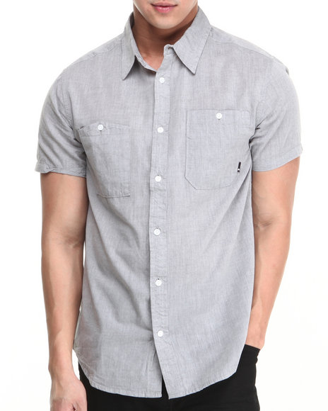 Burton - Men Blue Gilman S/S Button-Down