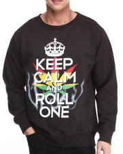Men - Keep Calm and Roll One Crewneck Sweatshirt
