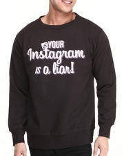 Men - Your Instagram is a Liar Crewneck Sweatshirt