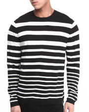 Men - Graduated Stripe Crew Neck Sweater