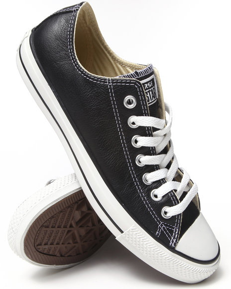 Converse - Men Black Chuck Taylor All Star Specialty Leather Sneakers