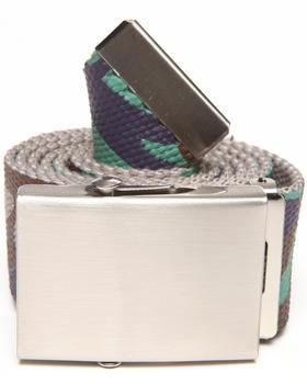 Basic Essentials - Woodland Camo Print Web Belt
