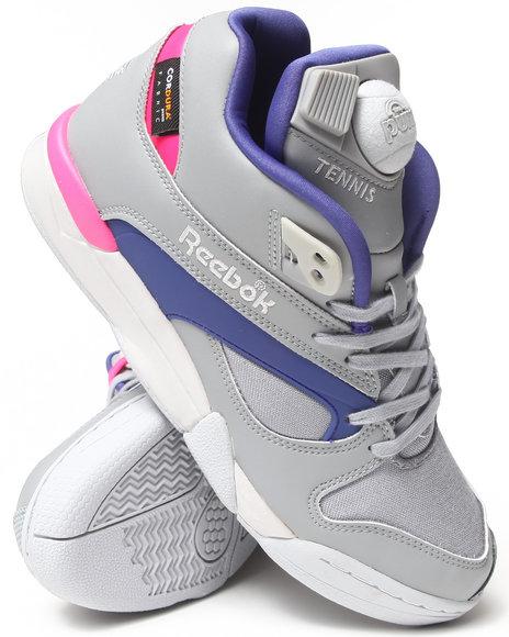 Reebok Grey Court Victory Pump Cordura Sneakers