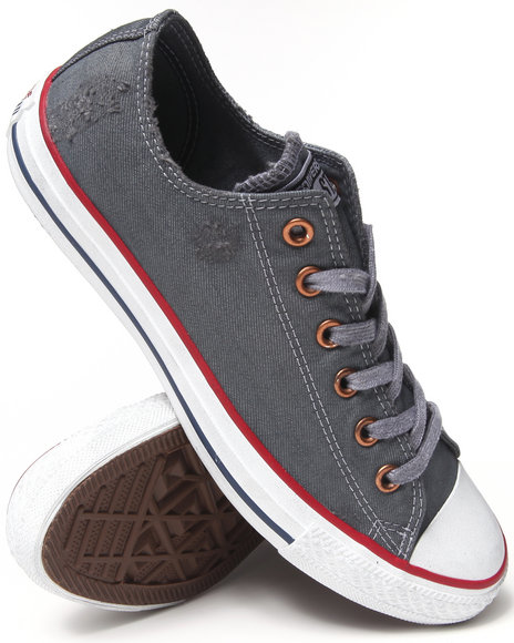 Converse - Men Grey Destroyed Denim Chuck Taylor All Star Ox Sneakers