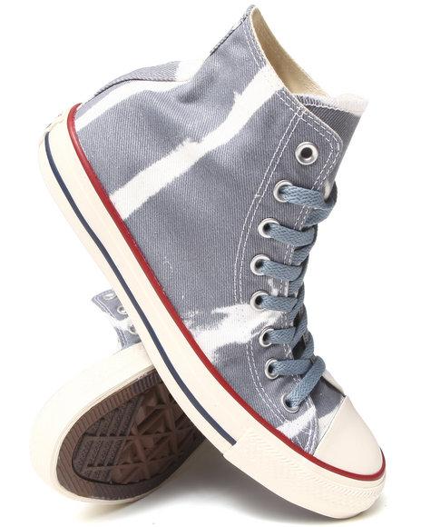 Converse - Men Grey Bleach Chuck Taylor All Star Hi Sneakers