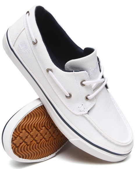 Timberland - Men White Earthkeepers Newmarket Boat Oxford Shoes