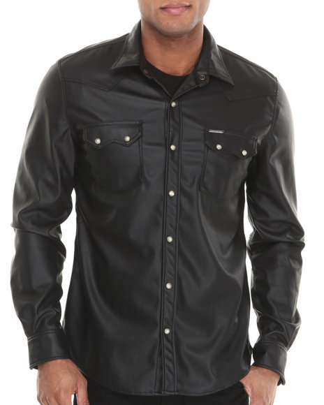 Winchester - Men Black P U L/S Button-Down