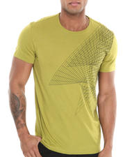 Men - Short Sleeve Spiral Crew Neck Tee