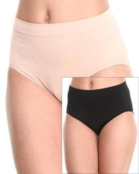 DRJ Lingerie Shoppe - Seamless 2-Pk Tummy Control Panty