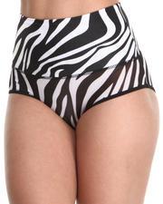 Women - Zebra Power Mesh Control Tummy Panty