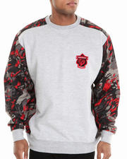 Basic Essentials - CAMO SPLATTER CREWNECK SWEATSHIRT