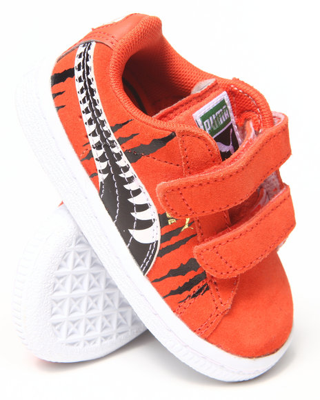 Puma Boys Orange Suede Chemical Comic Sneakers (5-10)