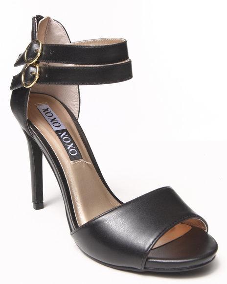 XOXO Black Waven Strappy Heel