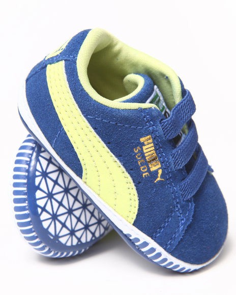 Puma Boys Blue Suede Crib Bootie (Infant)
