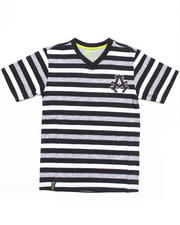 T-Shirts - STRIPED V-NECK TEE (4-7)