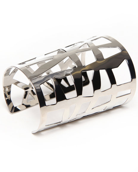 Rampage Women Tribal Cut Out Bracelet Silver - $6.99