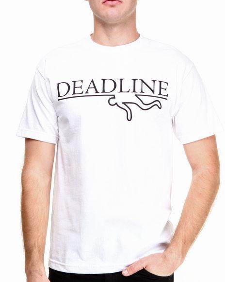 Deadline - Men White O G Logo Tee
