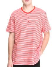 Shirts - S/S Heritage Stripe Henley Tee