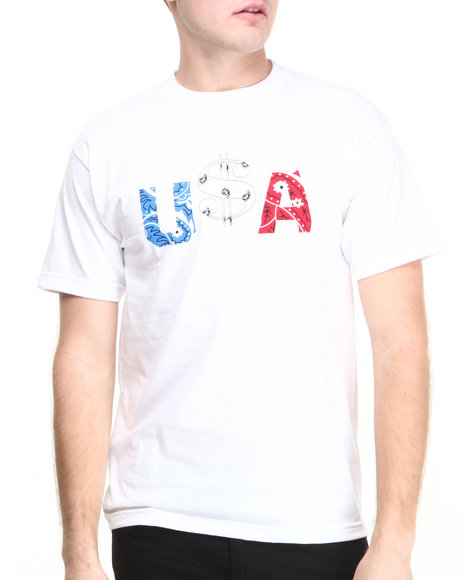 Deadline - Men White U$A Tee