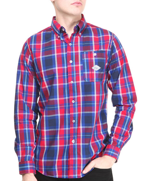 Parish - Men Red Berkeley L/S Button-Down