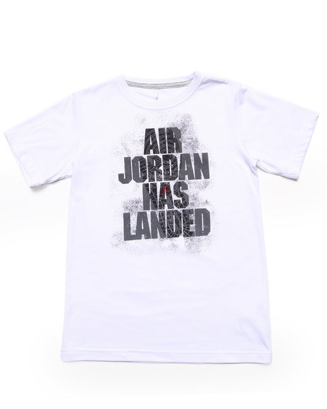 Air Jordan - Boys White Air Jordan Has Landed Tee (8-20)