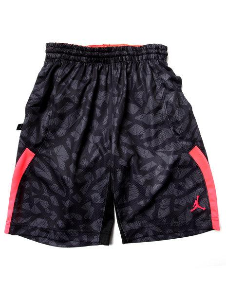 Air Jordan Boys Black S-Flight Printed Shorts (8-20)