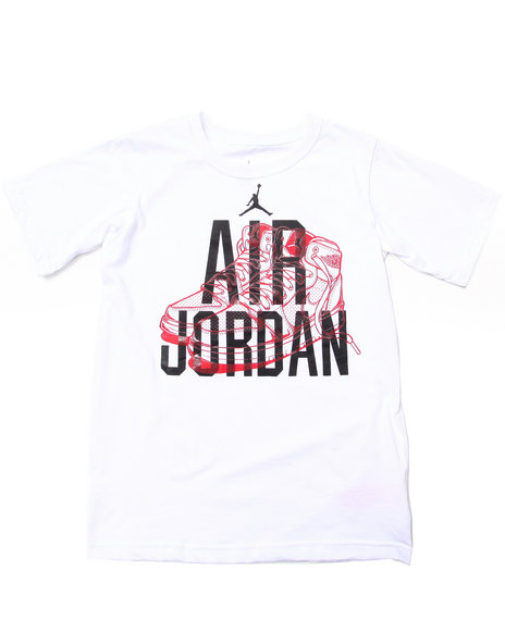 Air Jordan - Boys White Aj1 Tee (8-20)